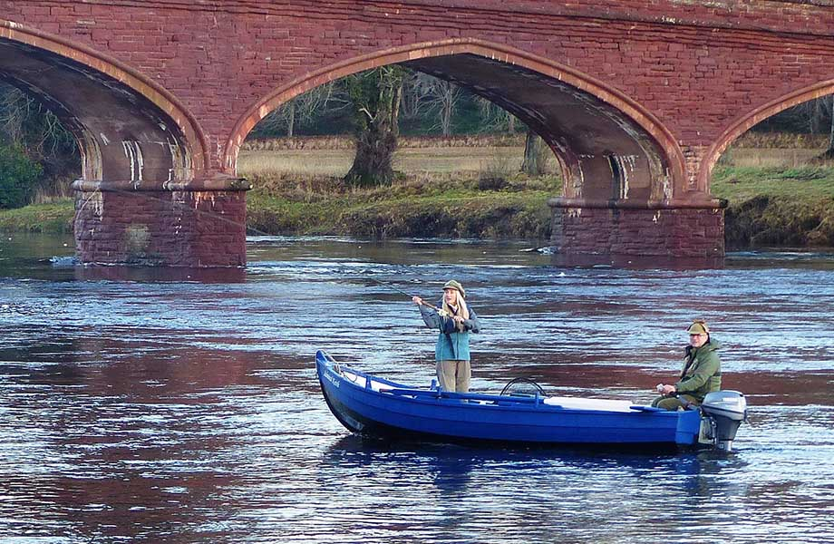 Fishing The Tay at Meikleour